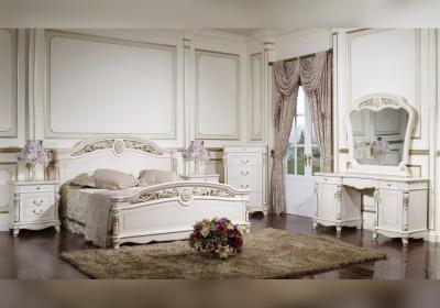 Спальня Afina Белая с жемчугом